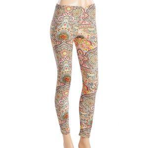 Kaleidoscope multi color printed legging.